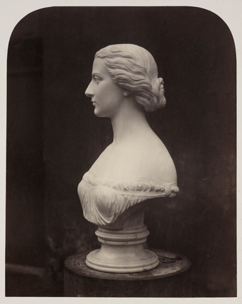 Marble female bust, 1854-1858.