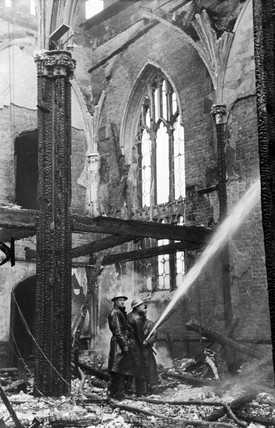 Firefighters during the Blitz, Liverpool, May 1941.