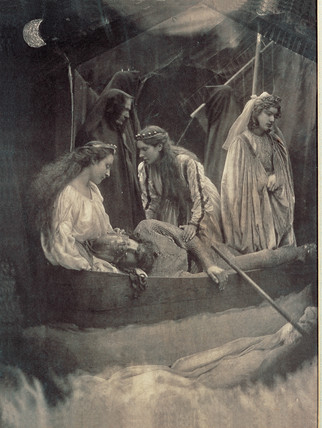 The passing of King Arthur, 1874.