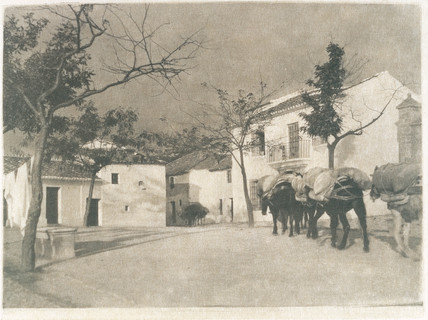 'A square, Ronda, Southern Spain', 1914.