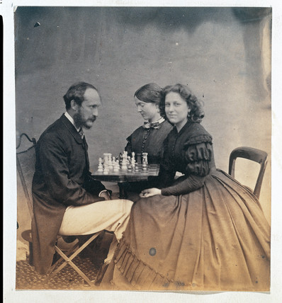 'The chess game', c 1860-1865.