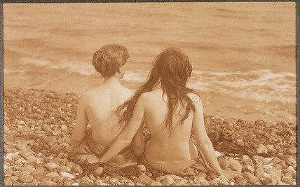 Girls on the beach, 1910.
