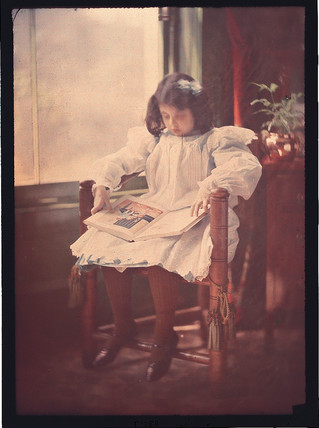 'Peggy reading', c 1909.