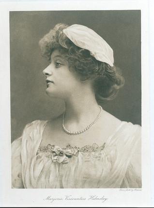 Marjorie, Viscountess Helmsley, 1909.