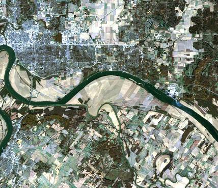 Tornado track across Indiana and Kentucky, USA, 10 November 2005.