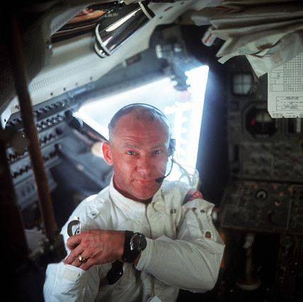 Buzz Aldrin in the 'Eagle', 1969.