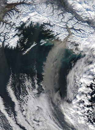 Dust storm off Alaska, 2005.
