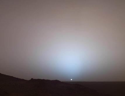 Sunset on Mars, 19 May 2005.