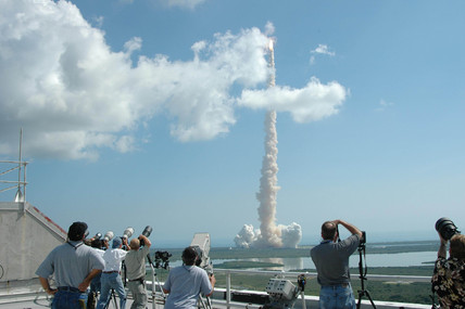 Space Shuttle Discovery lifting off, Florida, July 2005.