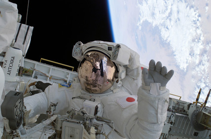 Soichi's spacewalk, 1 August 2005.