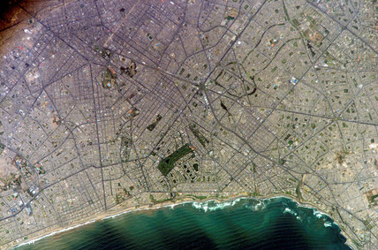 Lima, Peru, from the International Space Station, March 2005.
