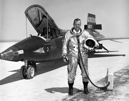 Bill Dana, American space pioneer, 1960s.
