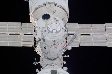 Docking in space, December 2001.