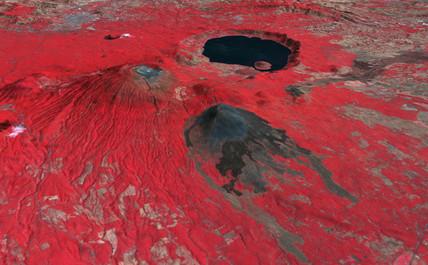 Santa Ana volcano, El Salvador, 3 February 2001.