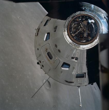Apollo 17 above the Moon, December 1972.