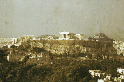 The Acropolis seen from the Hill of the Muses, Athens, c 2004.
