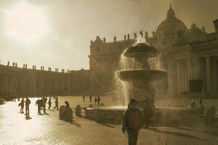 St Peter's Square, Rome, 2004.