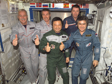 International Space Station crews 10 and 11, April 2005.