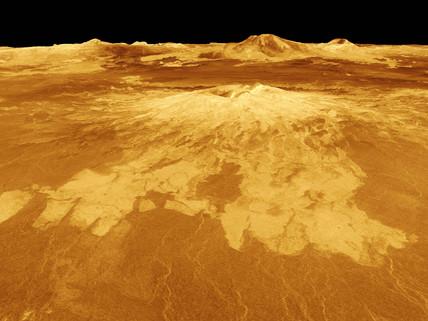 Volcano on Venus, c 2000.