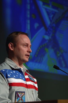 Mike Fincke, american Astronaut, c 2006.