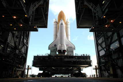 Space Shuttle Discovery preparing for launch, July 2005.
