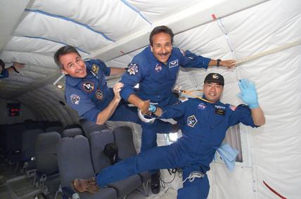 Weightless astronauts, c 2005.