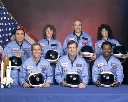 Crew of the Shuttle Challenger, USA, c 1986.