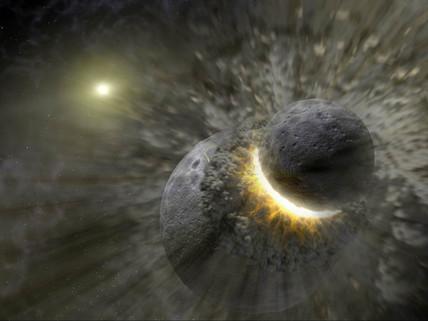 Space collision, c 2005.