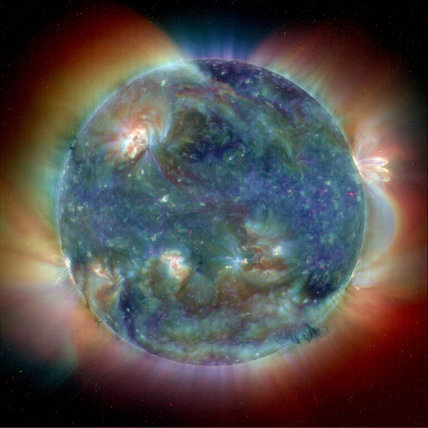The Sun at summer solstice, 2004.