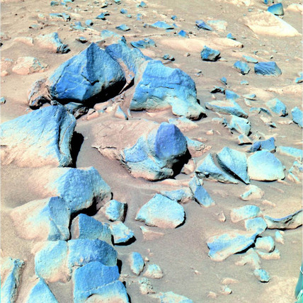Rocks on the surface of Mars, c 2000.