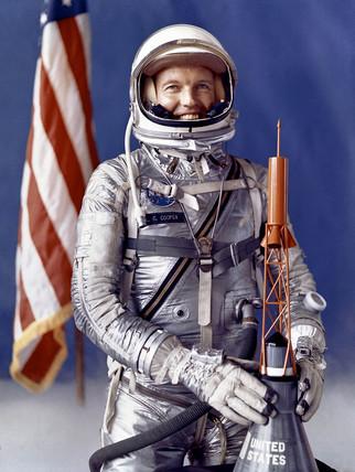 Gordon Cooper, American astronaut, c 1963.