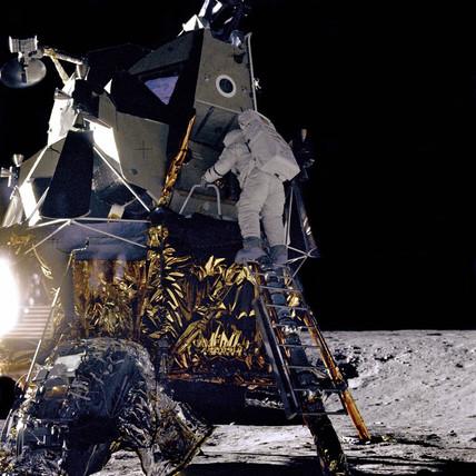 Apollo 12 lands on the Moon, 19 November 1969.