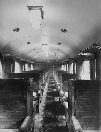 LMS vestibule interior, 20 April 1934.