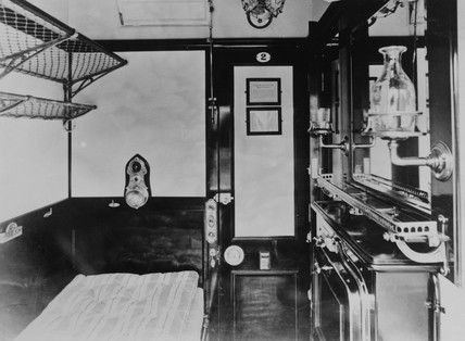 First Class sleeping car.