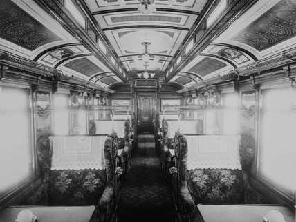 First class dining car.