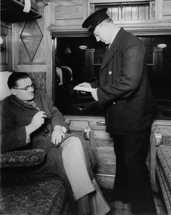 LMS ticket inspector, 1938.