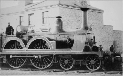 Stockton & Darlington 4-4-0 no. 165 'Keswick'.