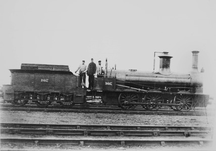 Stockton & Darlington railway 0-6-0 no. 107.