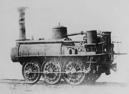 Stockton & Darlington railway locomotive 'Wilberforce', 1832.