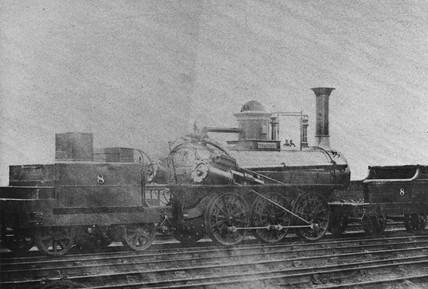 Stockton & Darlington Timothy Hackworth locomotive No 8 'Leaden'.
