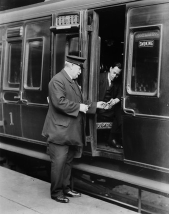 An LMS conductor, 1931.