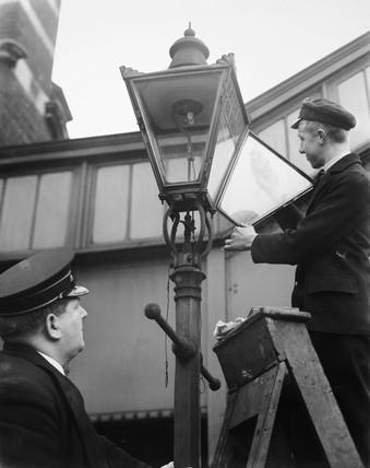 Glass lamp, 1937.