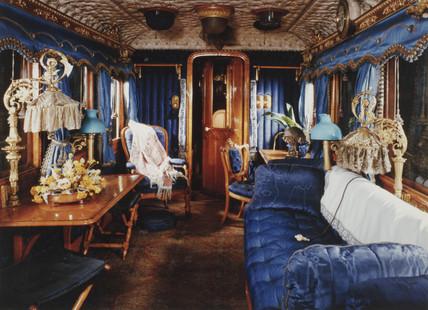 Queen Victoria's railway carriage, c 1890.