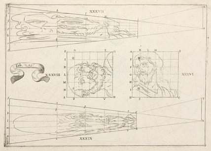 Plane anamorphosis by Jean Francois Niceron, 1638.