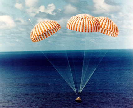 Apollo 14 splashdown, 9 February 1971.