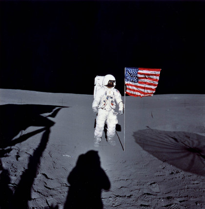 Ed Mitchell on the Moon, February 1971.