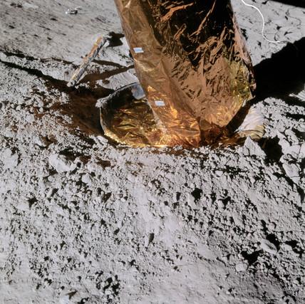 Apollo 14 footpad on the Moon, February 1971.