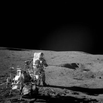 Alan Shepard on the Moon, February 1971.