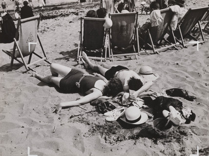 Sunbathing in the Sand, 4 July 1936.