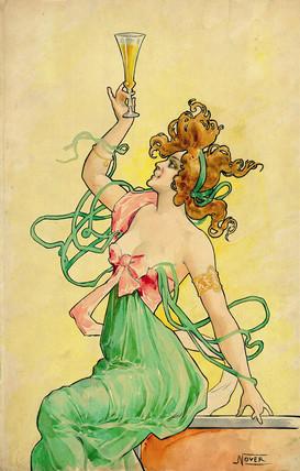Absinthe Blanqui, c 1900.